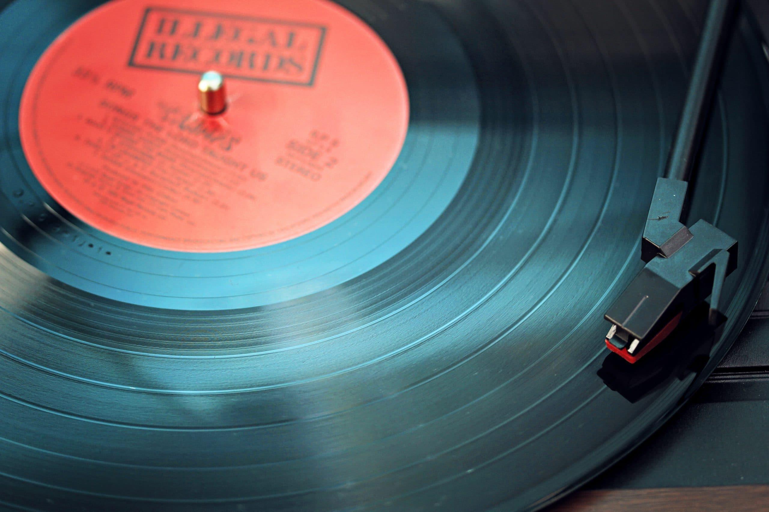 close-up record player